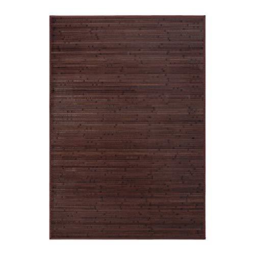 LOLAhome Alfombra de salón o Comedor Industrial marrón de bambú de 140 x 200 cm Factory, 140x200