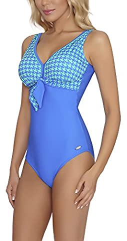 aQuarilla Damen Badeanzug Guyana (Dunkelblau/Mint,