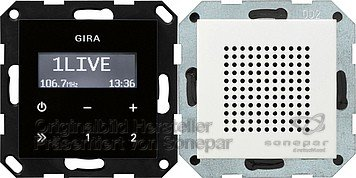Gira 228003 Unterputz Radio RDS System 55, reinweiß
