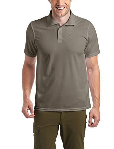 Maier Sports Herren Polo 1/2 Arm T-shirt, teak, Gr. XL