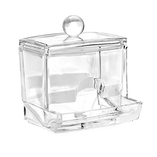 Acrylic Cotton Ball Holder (HQdeal Acryl klar Kugel Baumwolle HISOPO Halterung Box Spender Organizer)