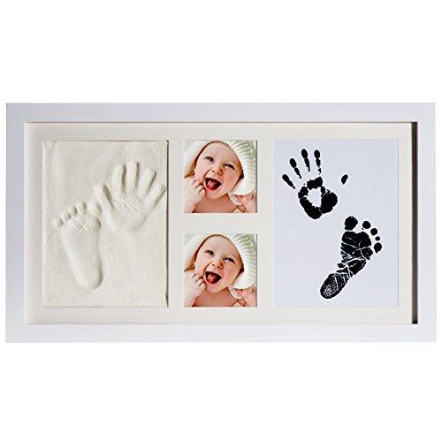 [New Version] PChero 2d & 3d de recuerdos para recién nacido bebé Handprint y huella Kit de fotos con arcillas seguro y Touch almohadilla de tinta para niños y niñas, único y especial bebé ducha regalos para registro (precio: 35,99€)