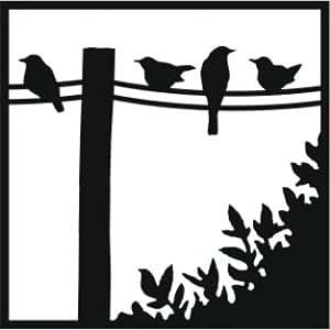 That Special Touch Pochoir Motif oiseaux sur un fil