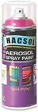 HACSOL 400ml Multipurpose Lacquer Hacsol Aerosol Paint Spray for Car/Bike, Medium (Simens Grey, HACSOL_Solid_GP09)