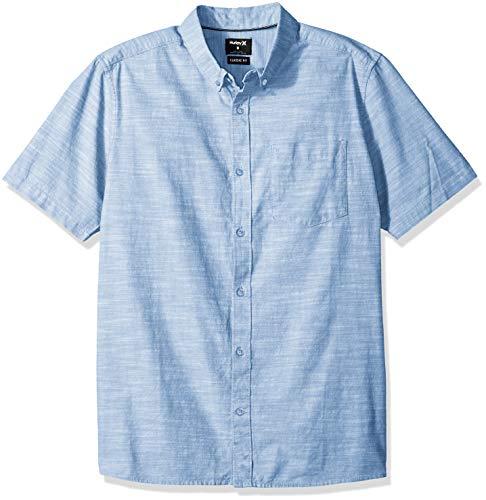 Oxford Woven Oxford-hemd (Hurley Herren Hemden M One&Only 2.0 Woven S/S, Blue Ox, L, 895020)