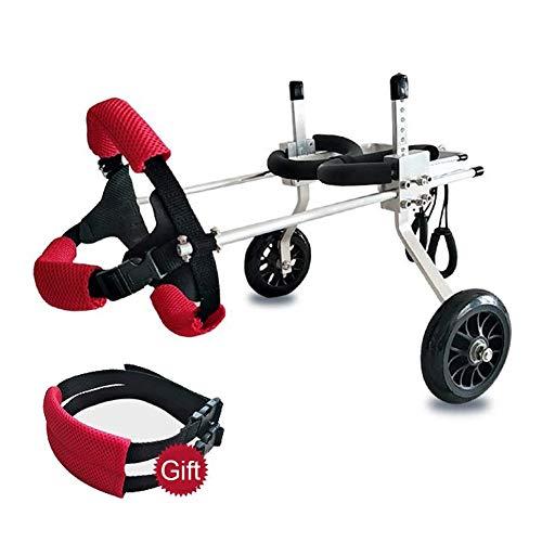 Rollstuhl-unterstützung (Alaof Hund Rollstuhl, Hund MobilitäT Geschirr, RüCkseite UnterstüTzung Rollstuhl, Einstellbar Hind Bein Rehabilitation Zum Behinderter Hund,Twowheeler,XXS)