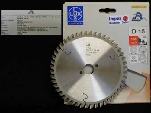 OBI LUX 117518 D15 Profi Plus HM-Kreissägeblatt 150 x 20 mm, 48 Z
