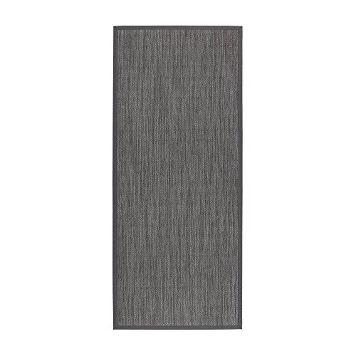 Alfombra pasillera de polipropileno gris étnica para salón de 75 x 175 cm Factory - Lola Home