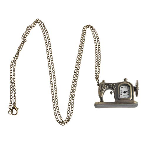 ESden Taschenuhr, Quarz, Vintage-Halskette, Charm-Anhänger, Bronze, Schmuck, Steampunk-Kette, Geschenk