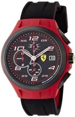 Reloj Ferrari 830017 de cuarzo para hombre, correa de silicona color negro (cronómetro) de Ferrari