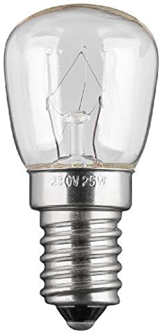 Refrigerator bulb, Special lamp for Household appliance, E14, 230V, 15W, clear, 78Lm - set of 3