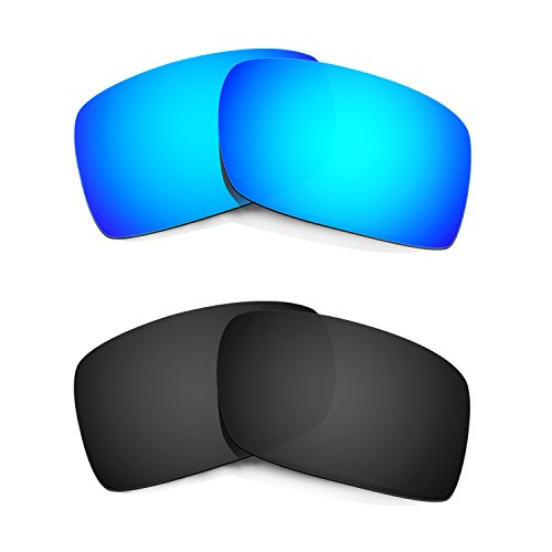 HKUCO Mens Replacement Lenses For Oakley Gascan Sunglasses Blue/Black Polarized