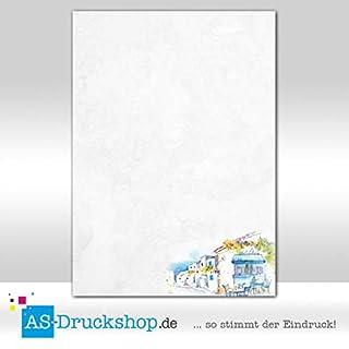 Designpapier Griechenland - Café / 25 Blatt/DIN A4 / 90 g-Offsetpapier
