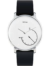 Withings Activité Steel - Reloj conectado con seguimiento automático de actividad, acero y cromo, color blanco y negro