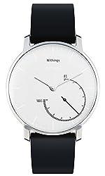 Withings Activité Steel - Smartwatch mit Aktivitäts- und Schlaftracker - Mineraglas & Edelstahl – Black&White