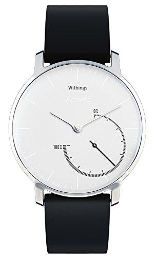 Withings Activité Steel - Smartwatch mit Aktivitäts- und Schlaftracker - Mineraglas & Edelstahl - Black&White