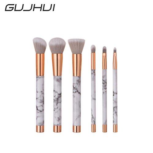 Lot de 6 mélanges crayon Fond de teint Fard à paupières Pinceaux de maquillage Eyeliner Brosse par Cinnamou
