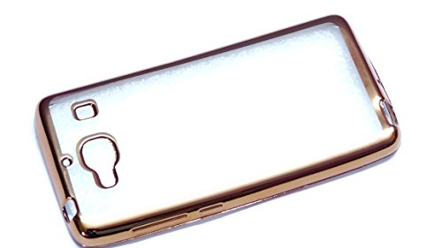 Case Creation New Luxury Perfect Fitting Electroplated Edge Gold Frame Border Bumper Plating High Quality Original TPU Soft Ultra Thin Transparent Silicone Crystal Clear TPU Flexible Back Case Cover Corner Protection for Xiaomi Redmi 2 , Xiaomi Redmi 2S Prime ,Xiaomi Mi2 / Mi2s /Mi 2 (Golden Edges)