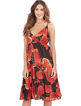 pistachio, abito da donna, lunghezza al ginocchio, ideale per le vacanze, vestito estivo, in cotone, colorato...