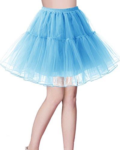 bridesmay Kurz Retro Petticoat Rock 1950er Vintage Tutu Ballett Unterkleid Orange M