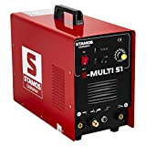 Stamos Germany - S-MULTI 51 - Kombi-Schweißgerät - DC WIG - Plasmaschneider - MMA - 230 V - max. 180 A - ED 60% - HF - 11,0 kg