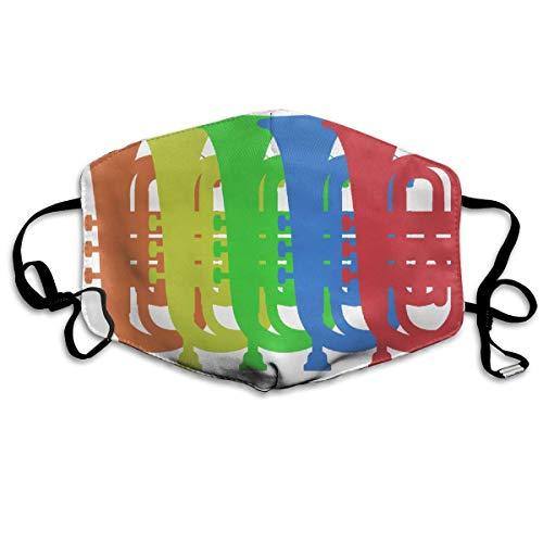 Funny&shirt Gesichtsmaske für Damen und Herren, mit Ohrschlaufen, staubdicht, Mundmuffel - Cool Soft Windproof Wander-Mund-Maske für Kinder, Jugendliche, Jungen und Mädchen (Retro Vintage Tuba)