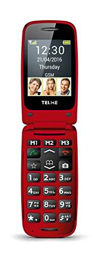 TELME X200 2 4  90g Rojo Tel  fono b  sico - Tel  fono m  vil  Concha  SIM   nica  6 1 cm  2 4    Bluetooth  800 mAh  Rojo