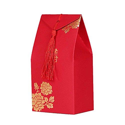 Panda Legends 40 Stücke Chinesischen Stil Hochzeit Dekorationen Pralinenschachtel Behandelt Boxen Cookies Pralinenschachtel Für Hochzeitsfest