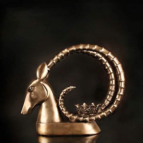 AosyGFR Decorazione della Tavola della Cera della Candela del Candelabro del Mestiere Americano della Resina Salone Creativo Molle delle Decorazioni della Casa