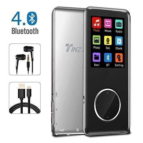 MP3 Player, Bluetooth 8GB MP3 Player mit Kopfhörern, Digital Kinder MP3 Player mit Lautsprecher FM Radio Voice Recorder,Kopfhörer und Sport Armband enthalten, Ultradünne Legierung Portabler Player