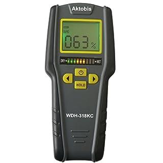 Aktobis Feuchteindikator Feuchtemesser Materialfeuchte Messgerät WDH-318KC inkl. 9 V Qualitätsbatterie