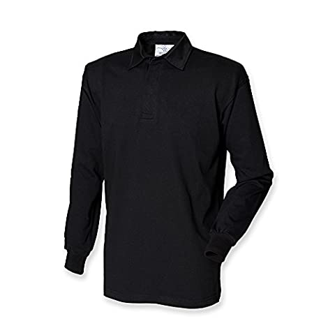 Front Row Long Sleeve Classic Rugby Polo Shirt (3XL)