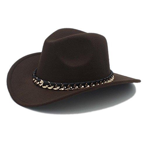 amen Herren Western Cowboy-Hut für Kirche, Cowgirl Jazz Cap mit Cloche Sombrero Hut, 3, 57-58CM (Cowboy Kostüm Diy)