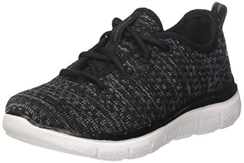 Skechers Jungen Flex Advantage 2.0-Cravy Sneaker, Schwarz (Black/Grey), 33 EU