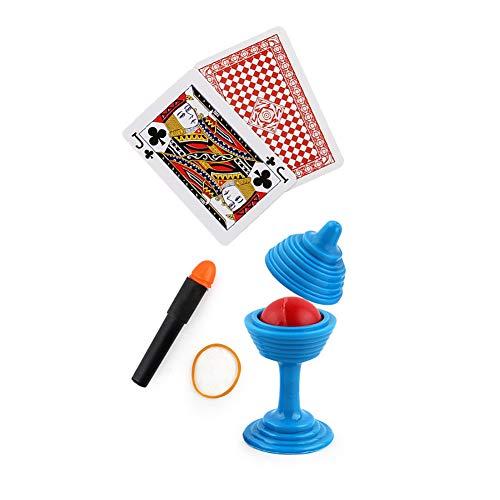 TYY-guang 1set Zauberrequisiten Nahaufnahme Bühne Magie Spielzeug für Kinder Kinder Fügen Sie den Ball Vase Snap-It und Karten-Monte - Snap-karte