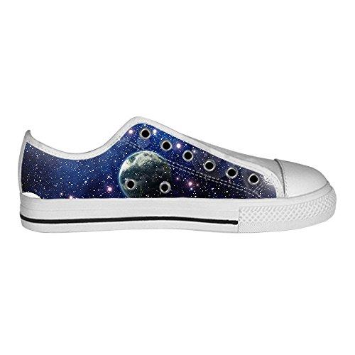 Custom universo piatto Men s Canvas Shoes Scarpe Lace Up High Top Sneakers a vela panno scarpe Scarpe di tela sneakers E