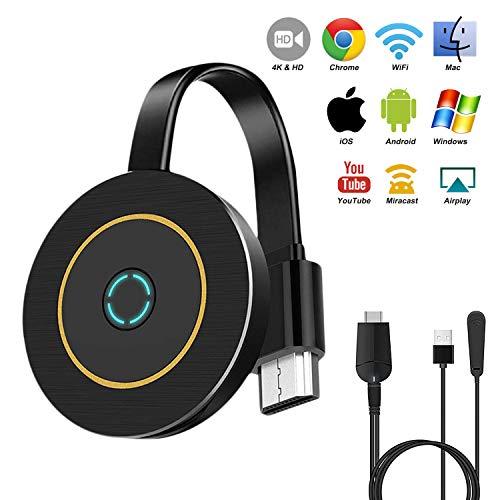 Wireless WiFi Display Dongle, Gibot 5GHz+2.4GHz, 1080P HD WiFi Drahtlos Mini Bildschirm teilen Anzeigeempfänger, Dongle HDMI für Android, Smartphone, PC, TV Monitor, Projektor