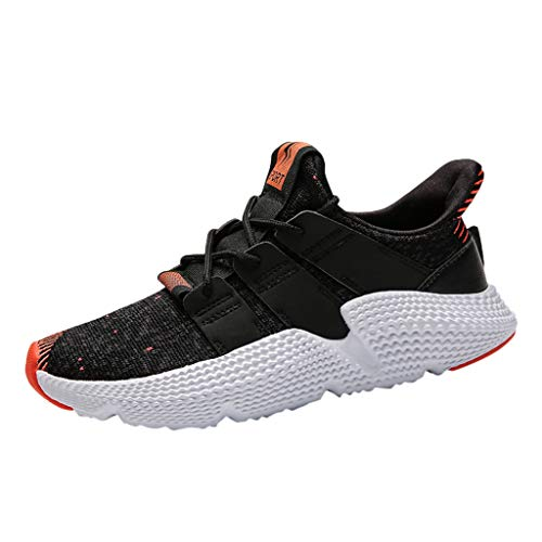 BHYDRY Herren Mesh Fashion Beathing Basketball Laufen Sport Athletic Shoes Sneakers(44,Rot)