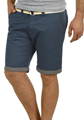 !Solid Lagos Herren Chino Shorts Bermuda Kurze Hose Mit Gürtel Aus Stretch-Material Regular Fit, Größe:M, Farbe:Insignia Blue (1991) - Samt 5-pocket-hose