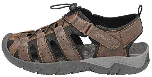Gola All' aperto da trekking sandali da passeggio Shingle 2punta chiusa scarpe da escursionismo leggero, (Brown Black), 43 EU