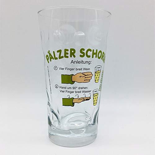 Pfälzer Schorle Dubbeglas 0,5 L - mit Aufdruck Pälzer Schorle