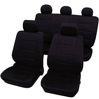 eSituro universal Sitzbezüge für Auto Schonbezug Komplettset schwarz SCSC0106