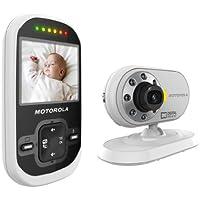 Motorola MBP26 Digitales Babyphone mit 2,4'' (6,1 cm) LC-Farbdisplay am Empfänger und Kamera in der Sendeeinheit