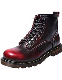 54fe763ac9d Sayla Zapatos Casual Moda De Los Hombres Invierno Cuero Botas Impermeable  Invierno Tobillo Trabajo Al Aire