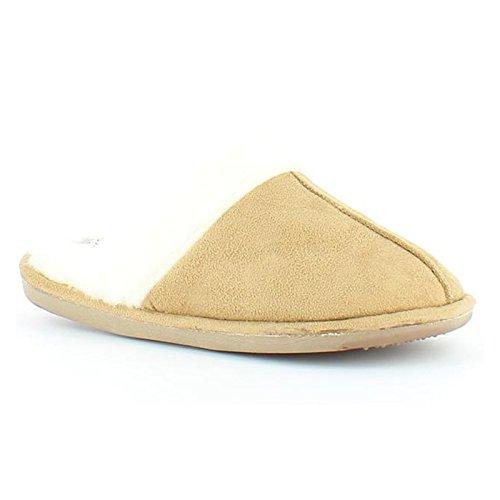 Heavenly Feet , Damen Hausschuhe Camel