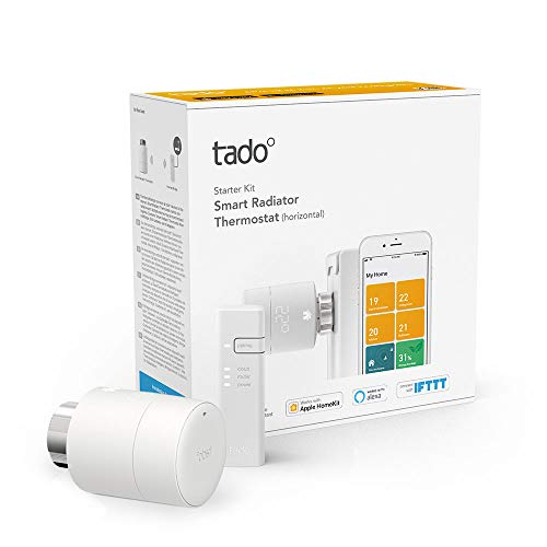tado° 4260328611463 Heizkörper Starter Kit V3+ Smartes Thermostat, Weiß