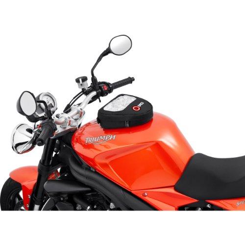 QBag Tankrucksack Motorrad Magnet Motorrad Tankrucksack Magnet, Kartentasche Motorrad Magnet, Tanktasche Motorrad Magnet, 3 l Stauraum, Kartenfach, Schultertragegurt, schwarz