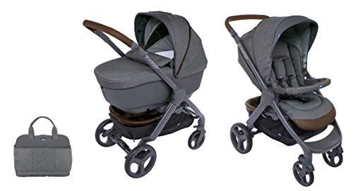 Chicco Duo Stylego Up Crossover (Sportwagen + Kinderwagenaufsatz), cool grey