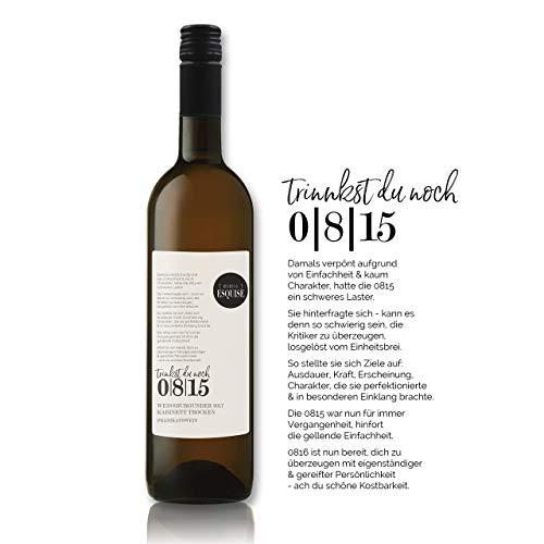 Trinkst du noch 0815? | Weissburgunder 2017 | Kabinett trocken | 0,75 l | QmP | Weisswein | Deutschland | besonderer Winzerwein