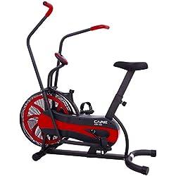 CARE FITNESS - vélo à air CA-700 - Air Bike - vélo d'appartement avec résistance à air - 6 Fonctions - vélo elliptique 2 en 1